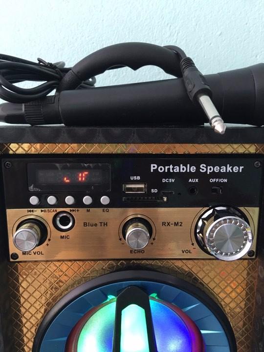 Loa karaoke - loa bluetooth karaoke mini tặng miicro 3