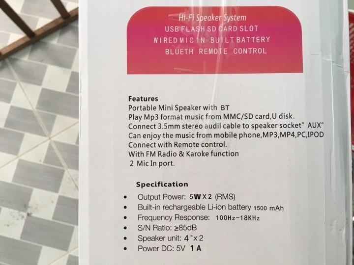 Loa karaoke - loa bluetooth karaoke mini tặng miicro 5