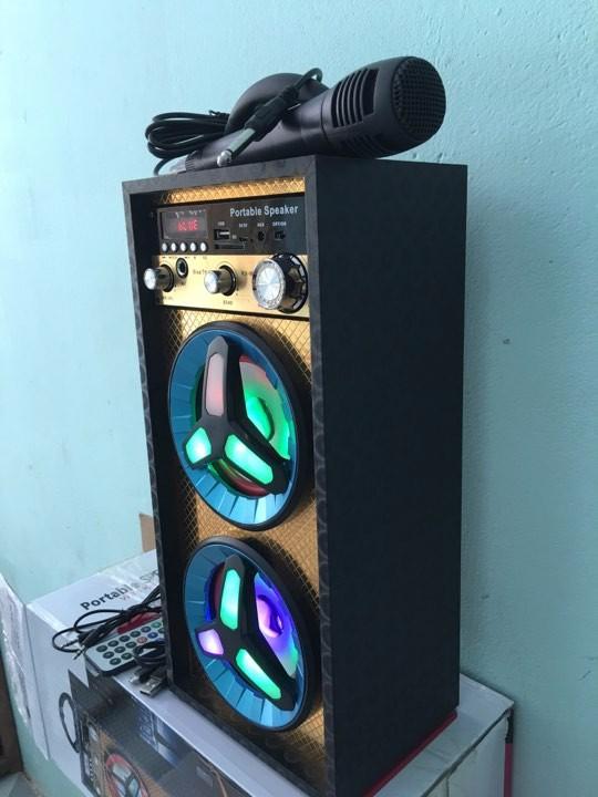 Loa karaoke - loa bluetooth karaoke mini tặng miicro 2