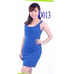 Đầm ôm màu xanh coban VNXK xịn Forever 21