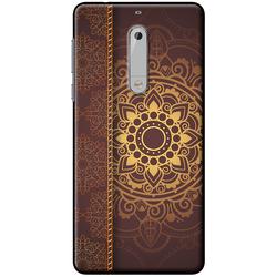 Ốp lưng Nokia. 5 Họa tiết Mandala nâu