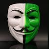 Mặt nạ Hacker Anymous màu Trắng Xanh