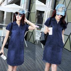 Đầm Jean Nữ Form Suông