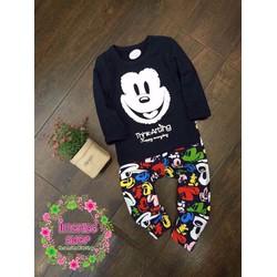 Bộ dài bé trai xuất Korea in hình Mickey ngộ nghĩnh