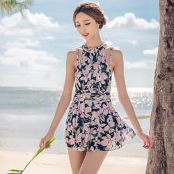 Đồ bơi nữ dạng váy kín đáo họa tiết hoa cực đẹp