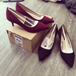 Giày cao gót xuất khẩu basic mũi nhọn cao cấp