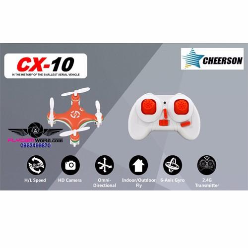 Cheerson CX-10 Mini Máy bay hồi chuyển 6 trục - 5057653 , 6583177 , 15_6583177 , 477000 , Cheerson-CX-10-Mini-May-bay-hoi-chuyen-6-truc-15_6583177 , sendo.vn , Cheerson CX-10 Mini Máy bay hồi chuyển 6 trục