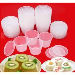 Combo 20 Khuôn Nhựa Làm Bánh Flan, Rau Câu Size Lớn