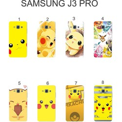 Ốp lưng Samsung Galaxy J3 Pro dẻo in hình Pikachu