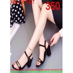 Giày cao gót nữ kiểu quai hậu đính tag sang trọng GCN307