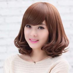 tóc giả nữ tóc giả nữ cao cấp - giống hệt tóc thật- màu nâu sáng