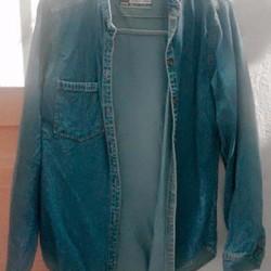 Thanh lí áo khoác jean cổ trụ
