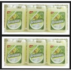 COMBO 3 can Nước rửa chén Greenex Hương Chanh 4.5L