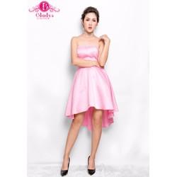 Đầm dự tiệc đầm xòe cúp ngực đuôi tôm hồng