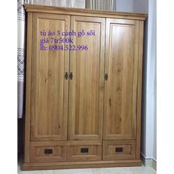 tủ áo gỗ sồi nga 3 cánh