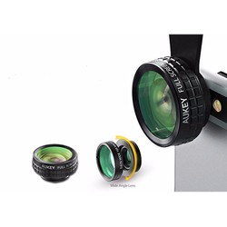 Lens 3 trong 1 Aukey Wide Fish Eyes Macro