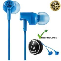 Tai nghe nhét tai Audio Technica ATH CLR100 Xanh Dương