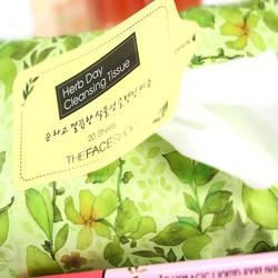 COMBO 2 GÓI GIẤY TẨY TRANG THE. FACE SHOP HERB DAY CLEANSING TISSUE