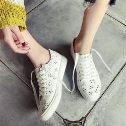 Giày bata hoa cột dây xinh xắn