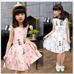 Đầm công chúa màu hồng kiểu dáng Hàn Quốc VC014