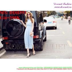 Đầm maxi sát nách cho nàng dạo phố xinh đẹp trẻ trung DDH593