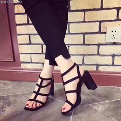 Giày Sandal nữ Charles keith 3 quai đế 7p cao cấp