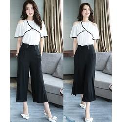 bộ đồ quần ống rộng cao cấp