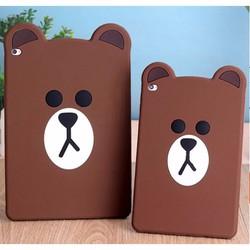 Ốp lưng iPad 2-3-4 gấu Teddy dẻo nổi