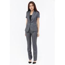 Bộ Vest nữ Titishop ACC48 màu xám sọc trắng quần dài