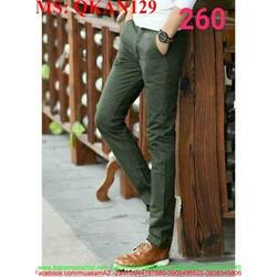 Quần kaki nam ống ôm chất vải đẹp QKAN129