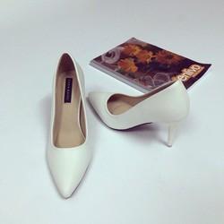 giày cao gót da trơn