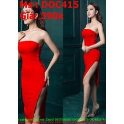 Đầm body dự tiệc cúp ngực và xẻ đùi sexy DOC415
