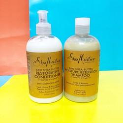 set gội xả Shea Moisture Moisture Retention Shampoo+ Conditioner