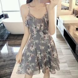 Đầm bông hai dây Quảng Châu