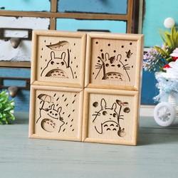 Hộp nhạc Totoro khắc gỗ