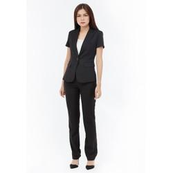 Bộ Vest nữ quần dài Titishop ACC41 màu đen cài nút