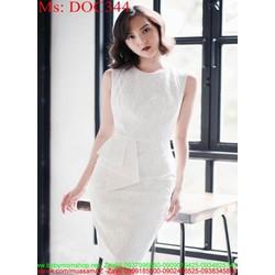 Đầm ôm dự tiệc sát nách vải ren cao cấp thiết kế thời trang DOC344