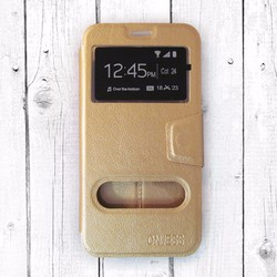Bao da Samsung Galaxy J7 Pro Onjess vàng nhạt