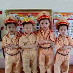 Bộ quần áo công an trẻ em giá rẻ