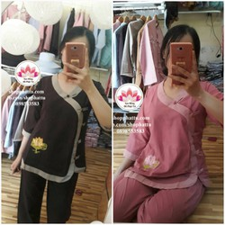 Quần áo đi chùa loại 1 - bộ đồ lam Phật Tử giá rẻ