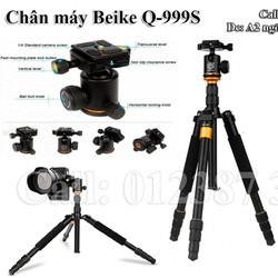 Chân máy ảnh, máy quay gọn nhẹ tripod Beike Q-999s
