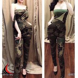 Bộ yếm quần kèm áo croptopMB701