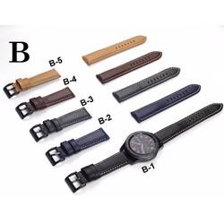 Dây da Nhám Chỉ Nổi MẪU B giành cho đồng hồ Size 22mm