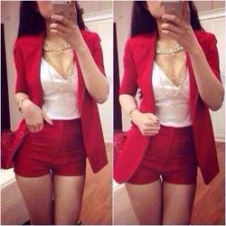 sét vest  quần short  kèm áo thun