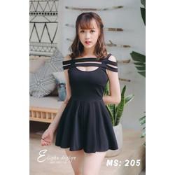 Đầm xòe kiểu dáng Hàn Quốc trẻ trung năng động