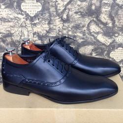 Giày tây nam cột dây họa tiết phong cách Ý 1