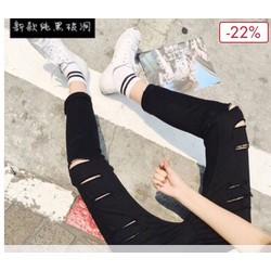 quần jean nam thời trang rách kiểu