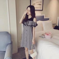 Đầm suông trễ vai cực xinh