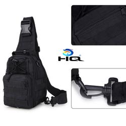 Túi đeo chéo 1 QUAI thể thao du lịch chống nước quân đội Mỹ đen
