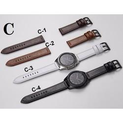 Dây da Bóng Chỉ Nổi MẪU C giành cho đồng hồ Size 22mm